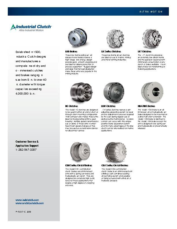 Industrial Clutch Line Card